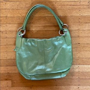 Hobo International pearlized green hobo bag